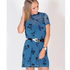 Minkpink Falling Bloom Mesh Tee Dress